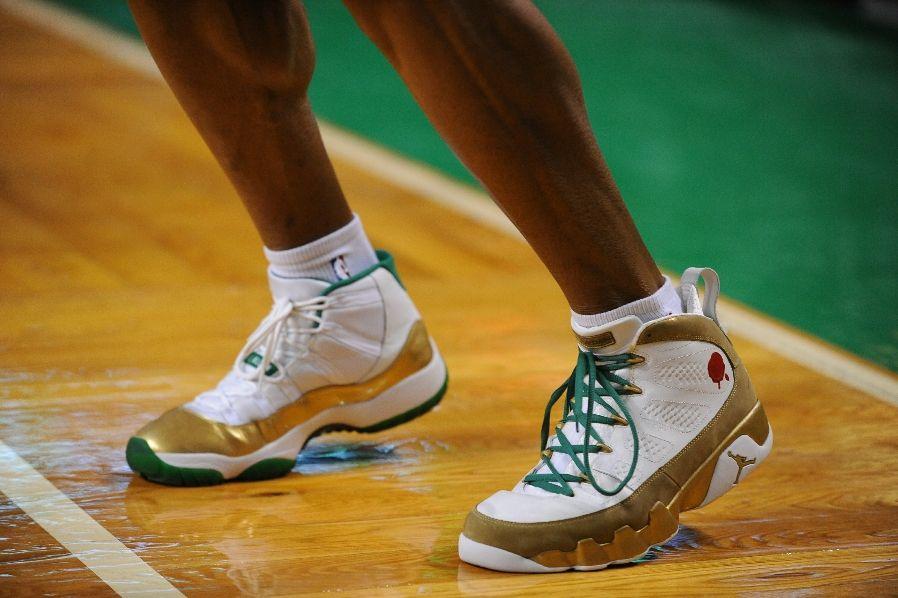 ray allen Air Jordan 11 Retro Air Jordan 9 Retro - Special Boston Celtics  Home 6dd0a6918