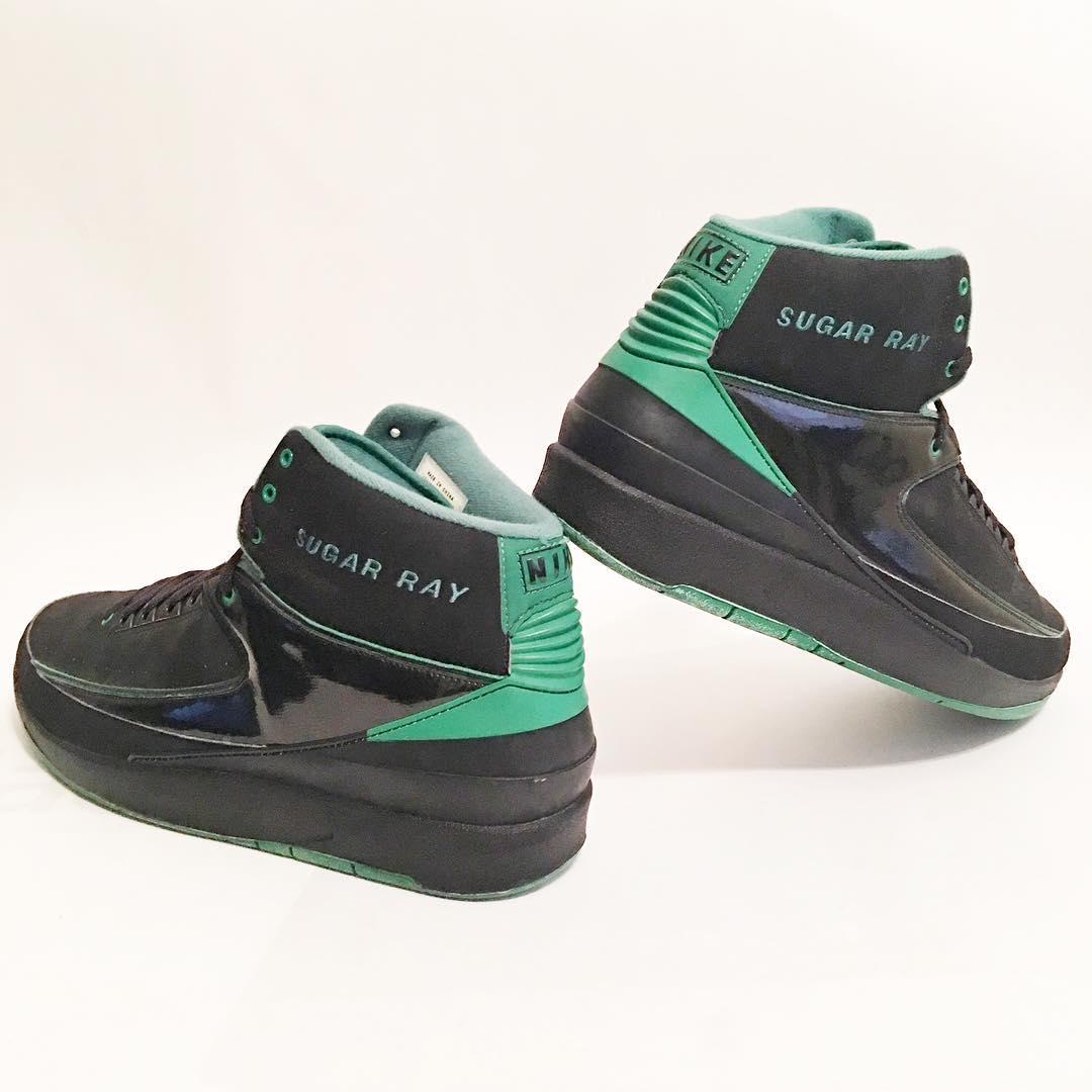 ray allen Air Jordan 2 Retro - Boston Celtics Away PE - WearTesters 5b5159cb71