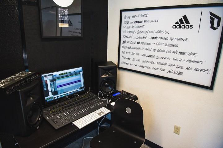 adidas Dame 3 Oakland High recording studio 3