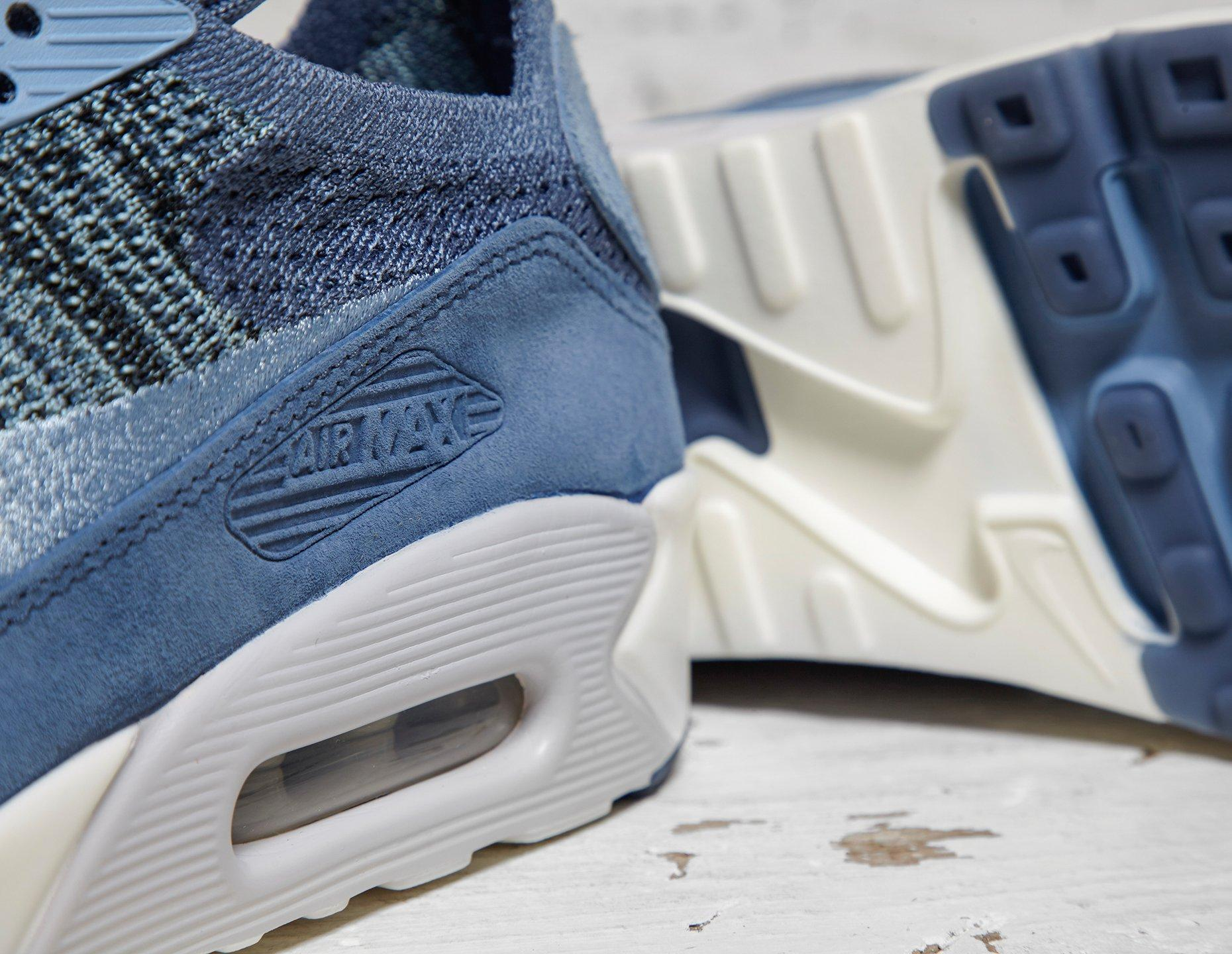 nikelab air max 90 flyknit blue WearTesters