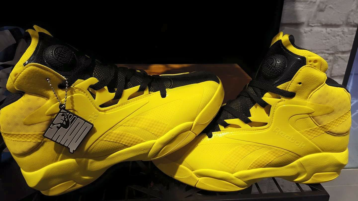 ee1559816449 reebok shaq attaq 25 anniversary yellow black · Kicks On Court   Reebok ...
