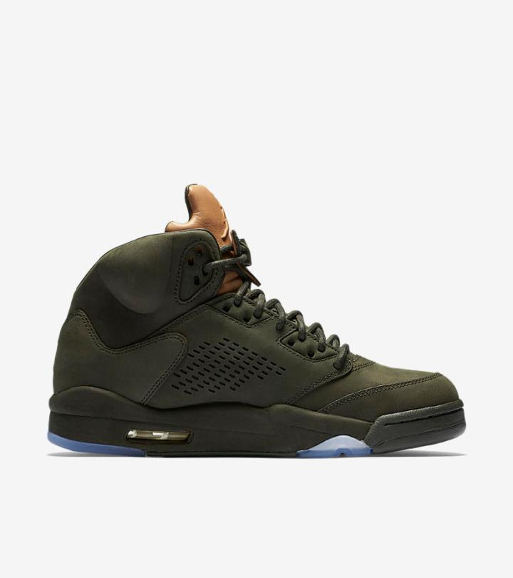 48b30c4eed17e6 The Air Jordan Retro 5  Pinnacle  in Sequoia Green is Available Now ...