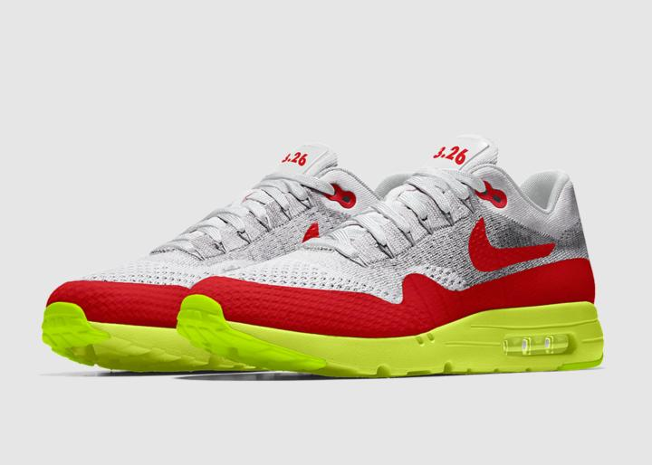 7fab5a686922 Nike will also offer a multicolor Flyknit option as seen below. The option  will be available for a limited time only on both the Nike Flyknit Air Max  1 ...