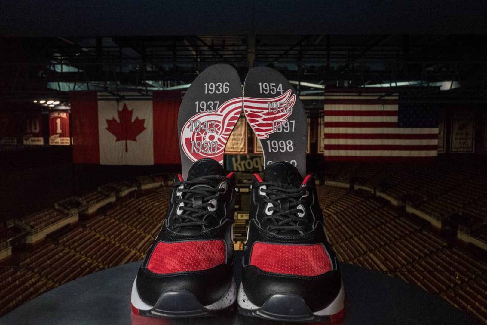 Burn Rubber Red Wings Shoes