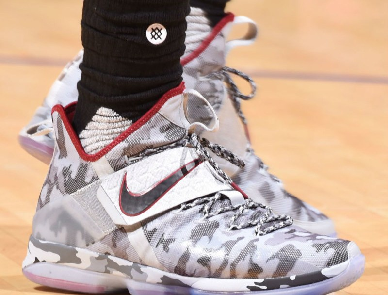 3369fc6a80e LeBron Debuts a New  Camo  Colorway of the Nike LeBron 14 - WearTesters