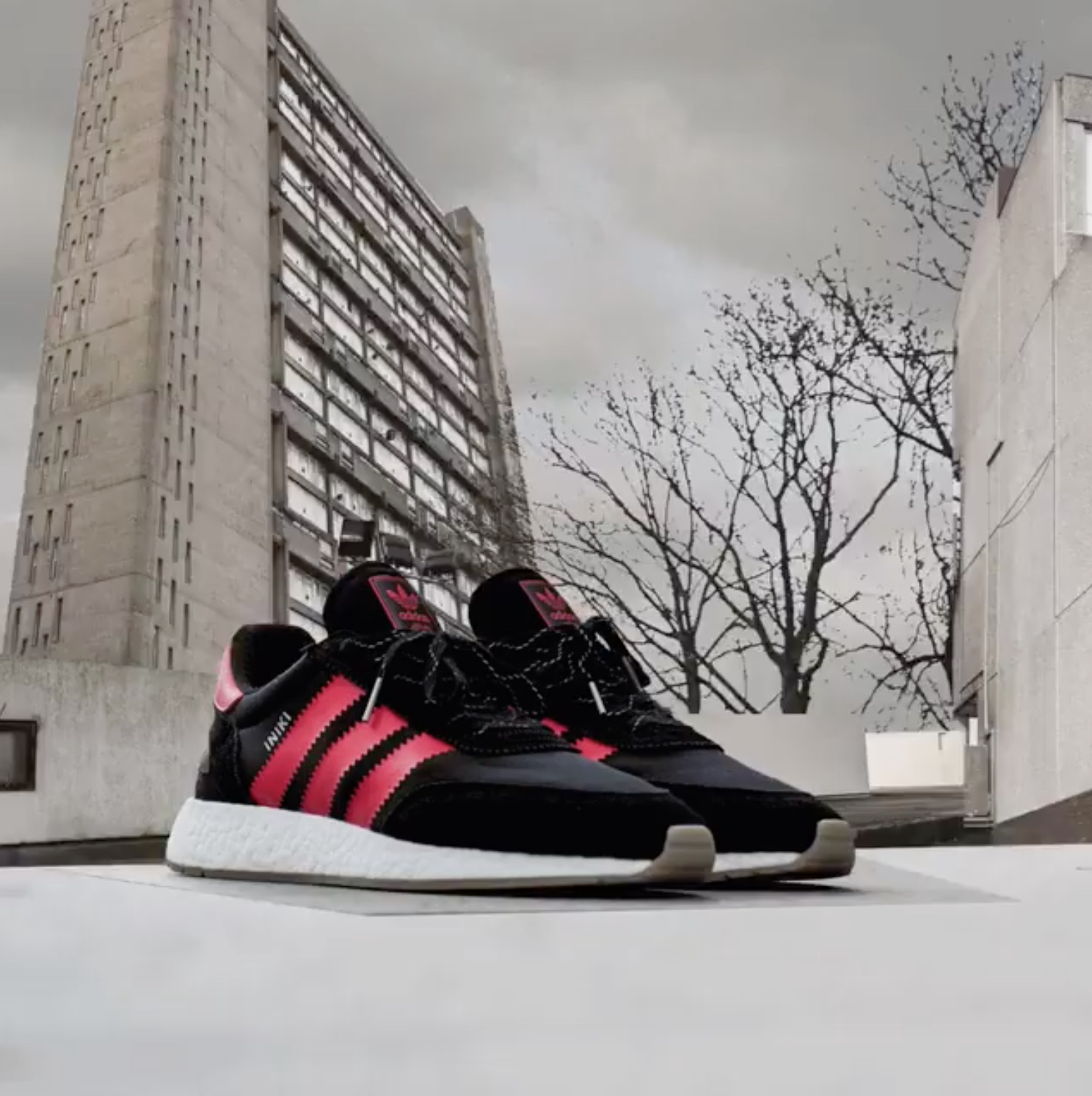 brand new 006f8 13d62 adidas iniki runner boost black red flagship exclusive 1