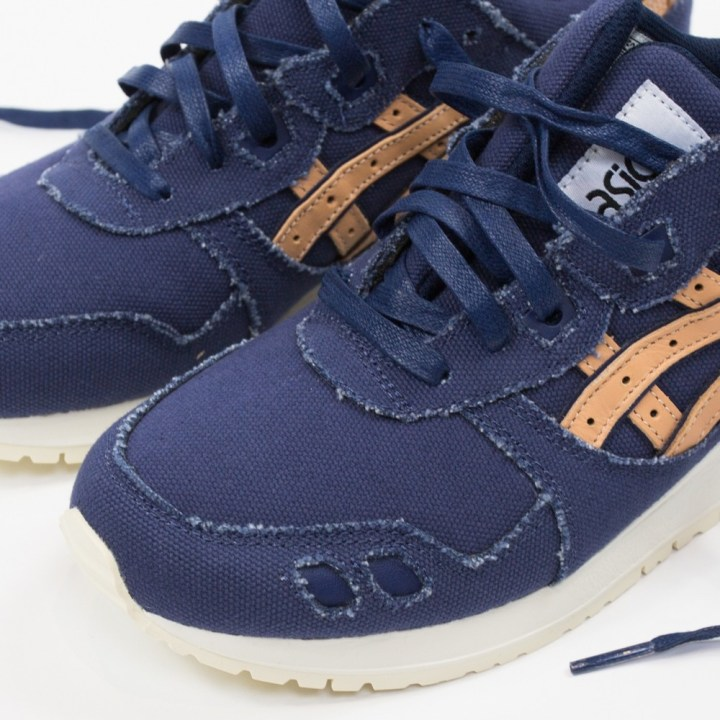 asics gel-lyte iii indigo blue tan denim 1