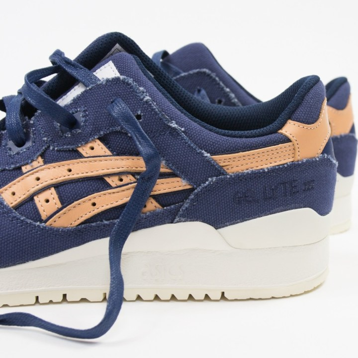 asics gel-lyte iii indigo blue tan denim 2