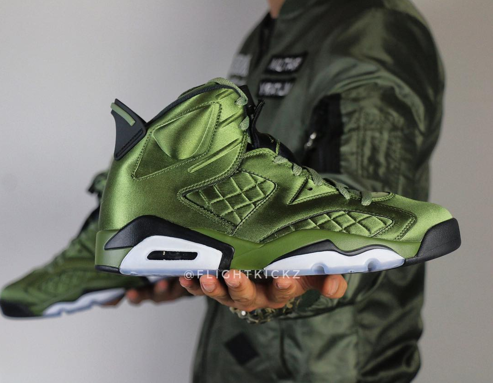 4ebd230f8ef6 air jordan 6 pinnacle flight jacket 1 · Jordan Brand   Kicks On Court ...
