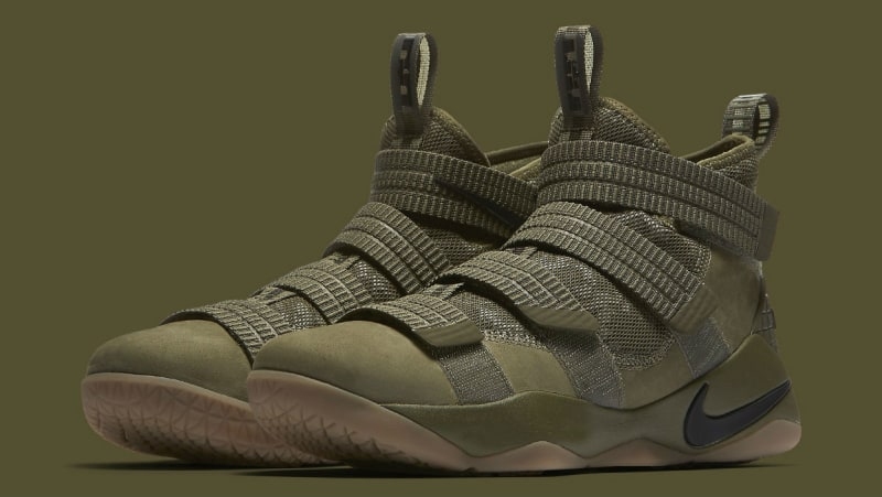 54804178c6bc The Nike LeBron Soldier 11 Gets an  Olive  Makeover - WearTesters
