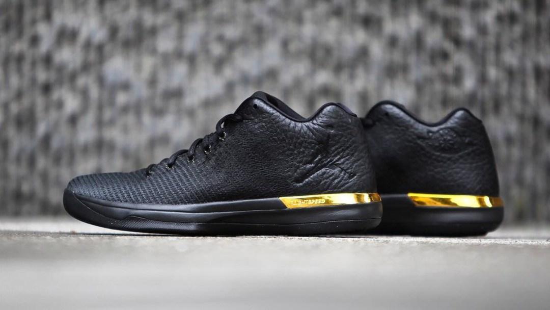 newest 04886 001a4 air jordan xxxi low black metallic gold 17