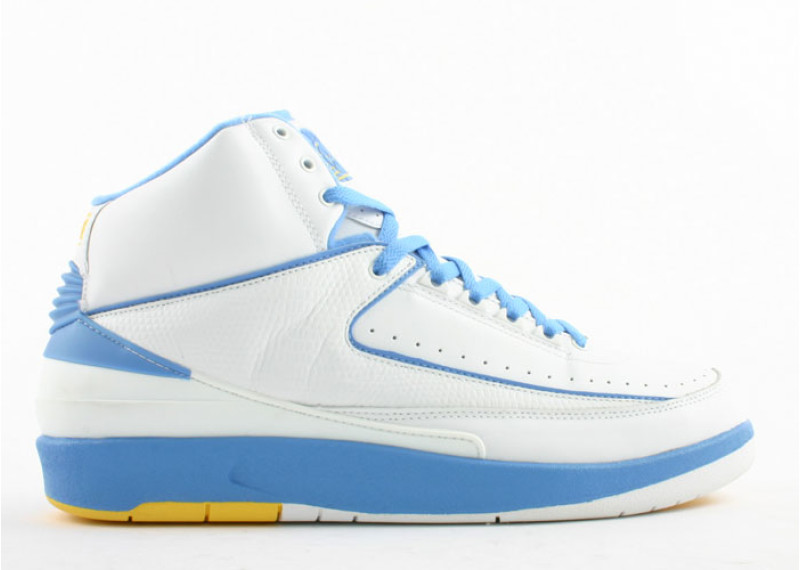 best service 94c4e 87b71 air-jordan-2-retro-carmelo-white-carolina-blue-