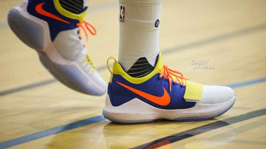 0e4e0a44808e Paul George Spotted in an OKC-Themed PG1 - WearTesters
