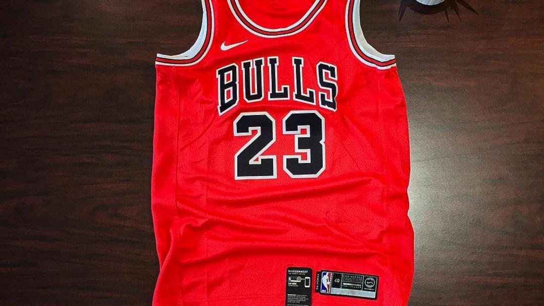 1f0c937daa1 Michael Jordan s Bulls Jersey Returns in Swoosh Mode - WearTesters