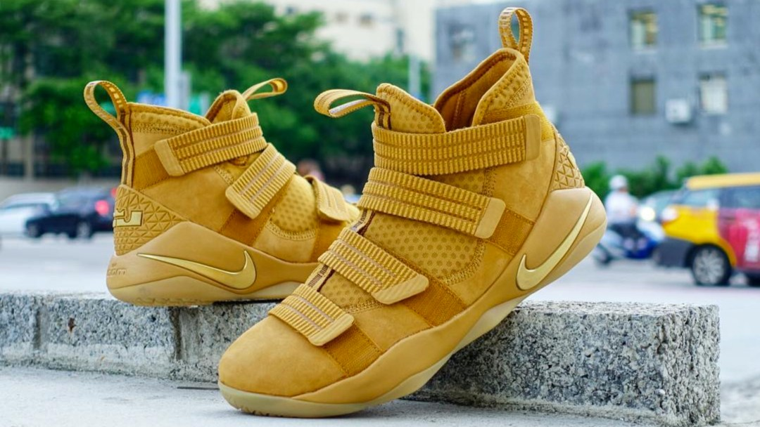 check out d605a cdd2b nike lebron soldier xi sfg wheat gold 10