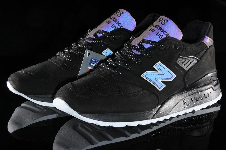 9eb457a1b03d86 New Balance Adds Iridescent Black Rendition to its  Northern Lights ...
