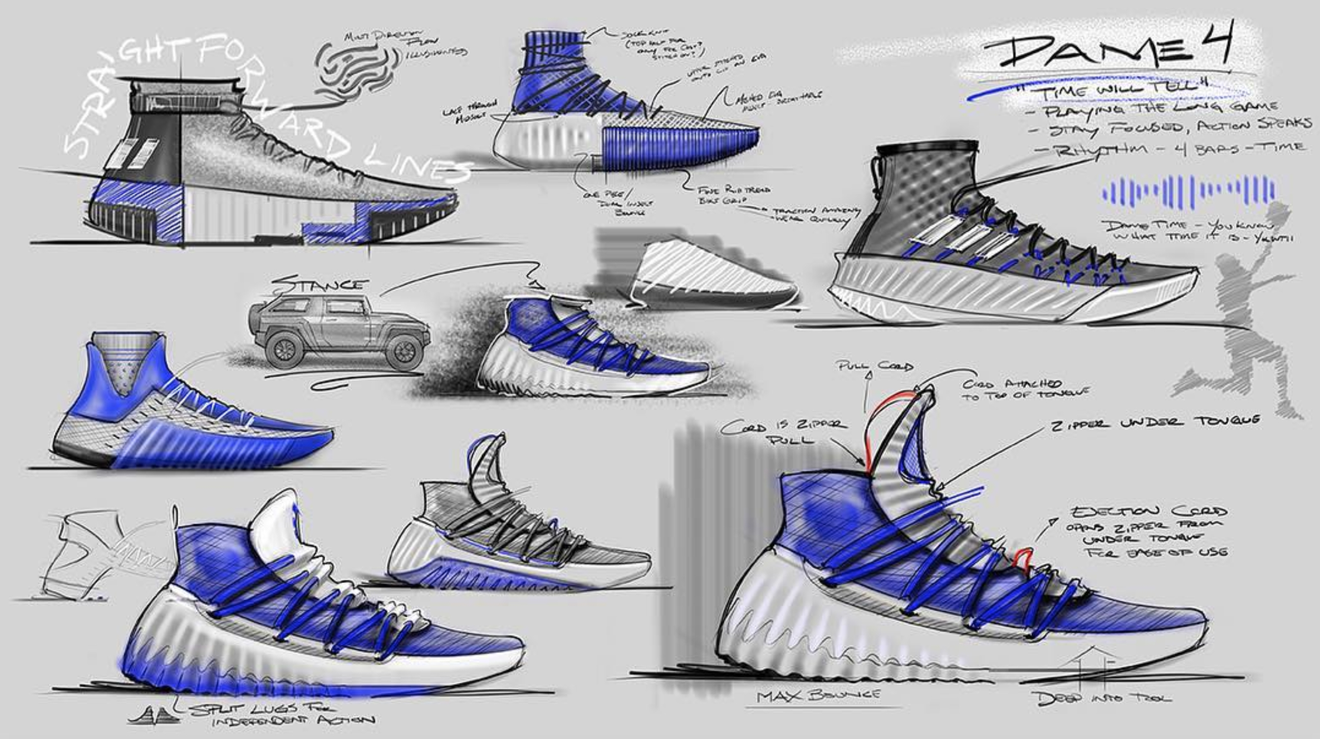super popular 6e46b 6bcc8 Dame 4 Designer Shares Sketches and Possible Upcoming Colorw
