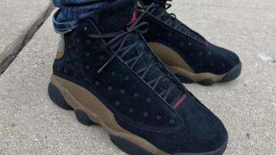 best service 07fc3 3c1cb Another Look at the Air Jordan 13  Olive  Shows Suede Uppers