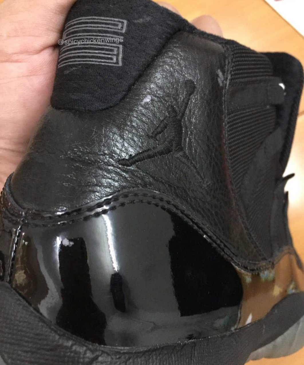 timeless design 4c8c9 ba13a air jordan 11 retro blackout 4