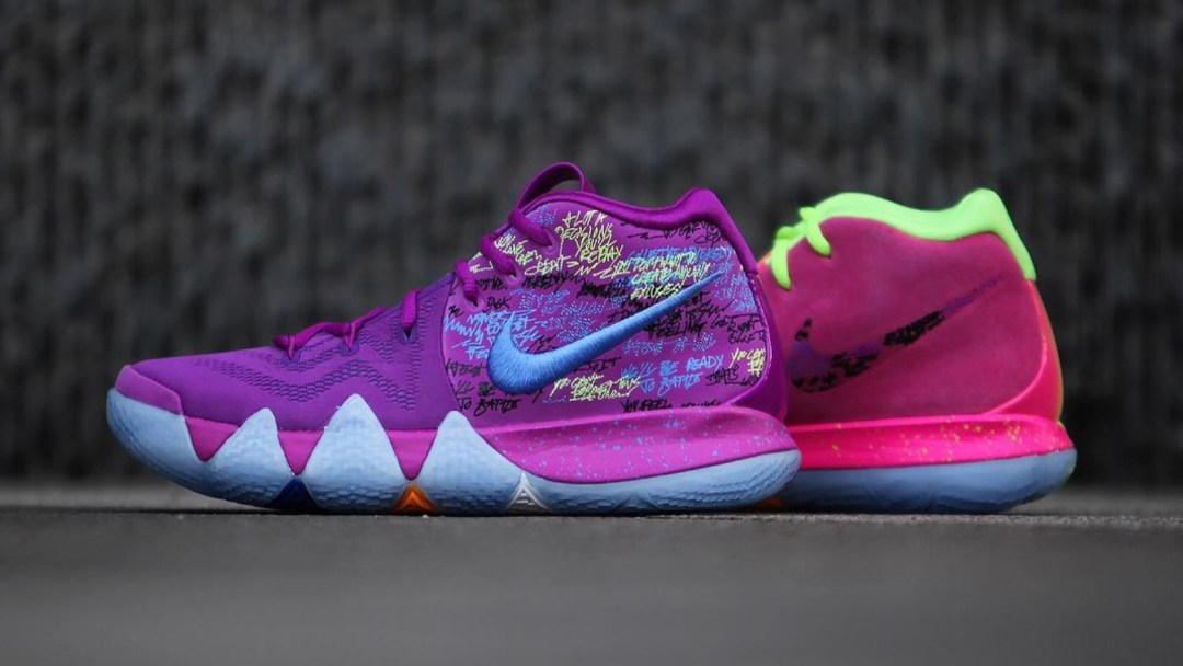 eea946454f10 Here s a Detailed Look at the Nike Kyrie 4  Confetti  - WearTesters