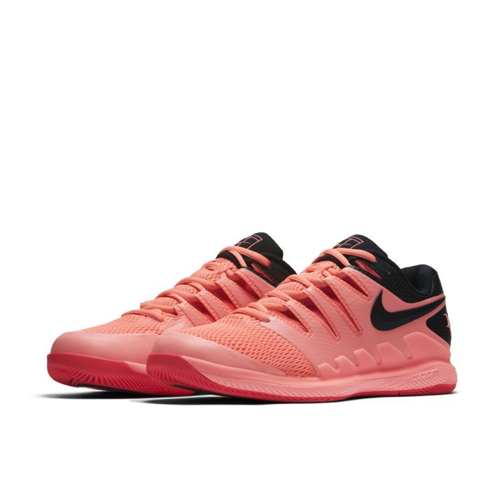 new concept f0b73 be556 roger federer nike air zoom vapor x solar red 1