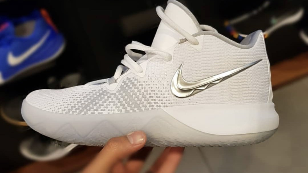 e8b874489214 The Nike Kyrie Flytrap Surfaces in New White Grey Colorway - WearTesters