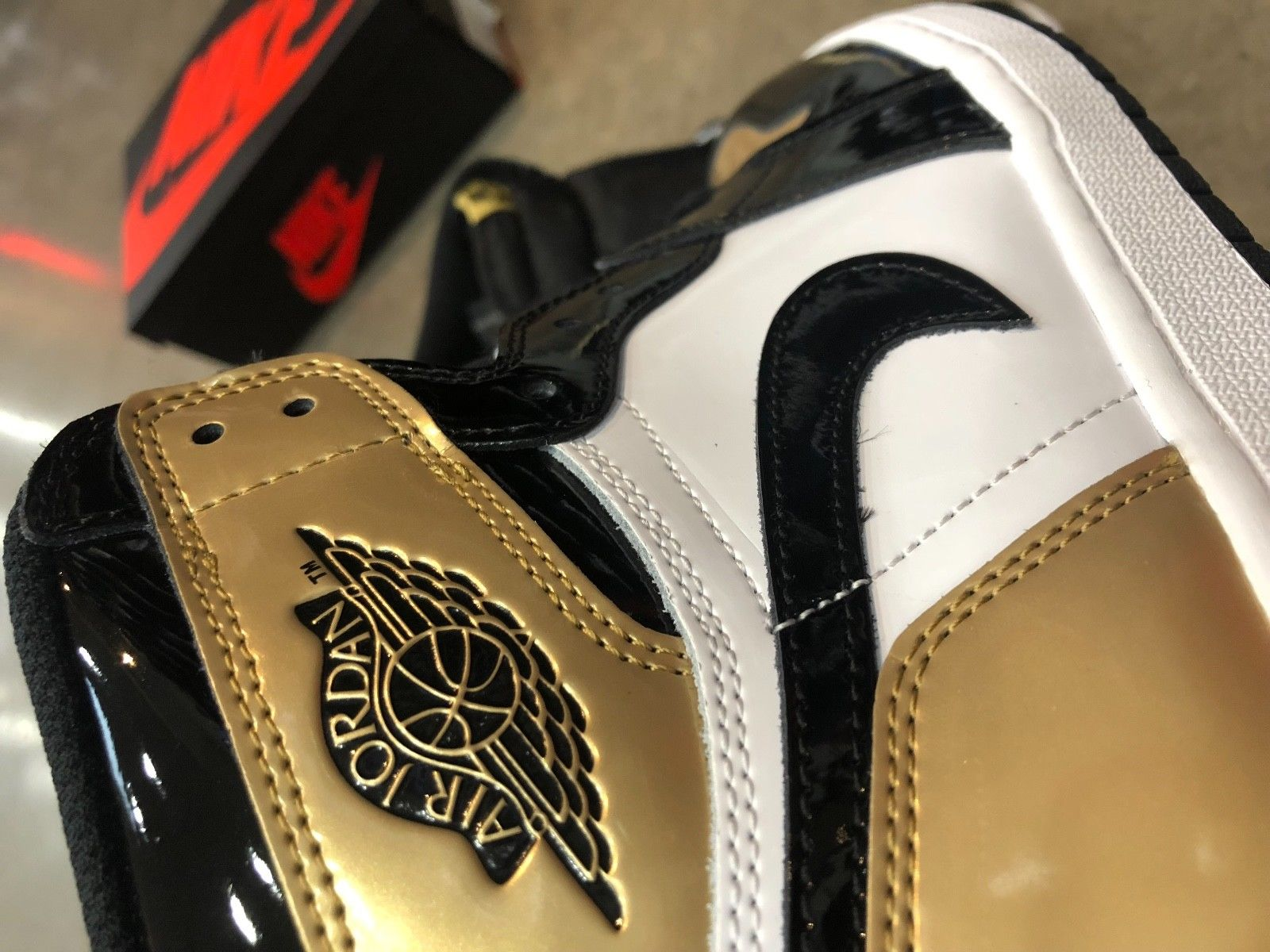 b5a8a8cac1c26b Viral Nike Air Jordan 1 Upside Down Gold Toes Now Up For Auction3 ...