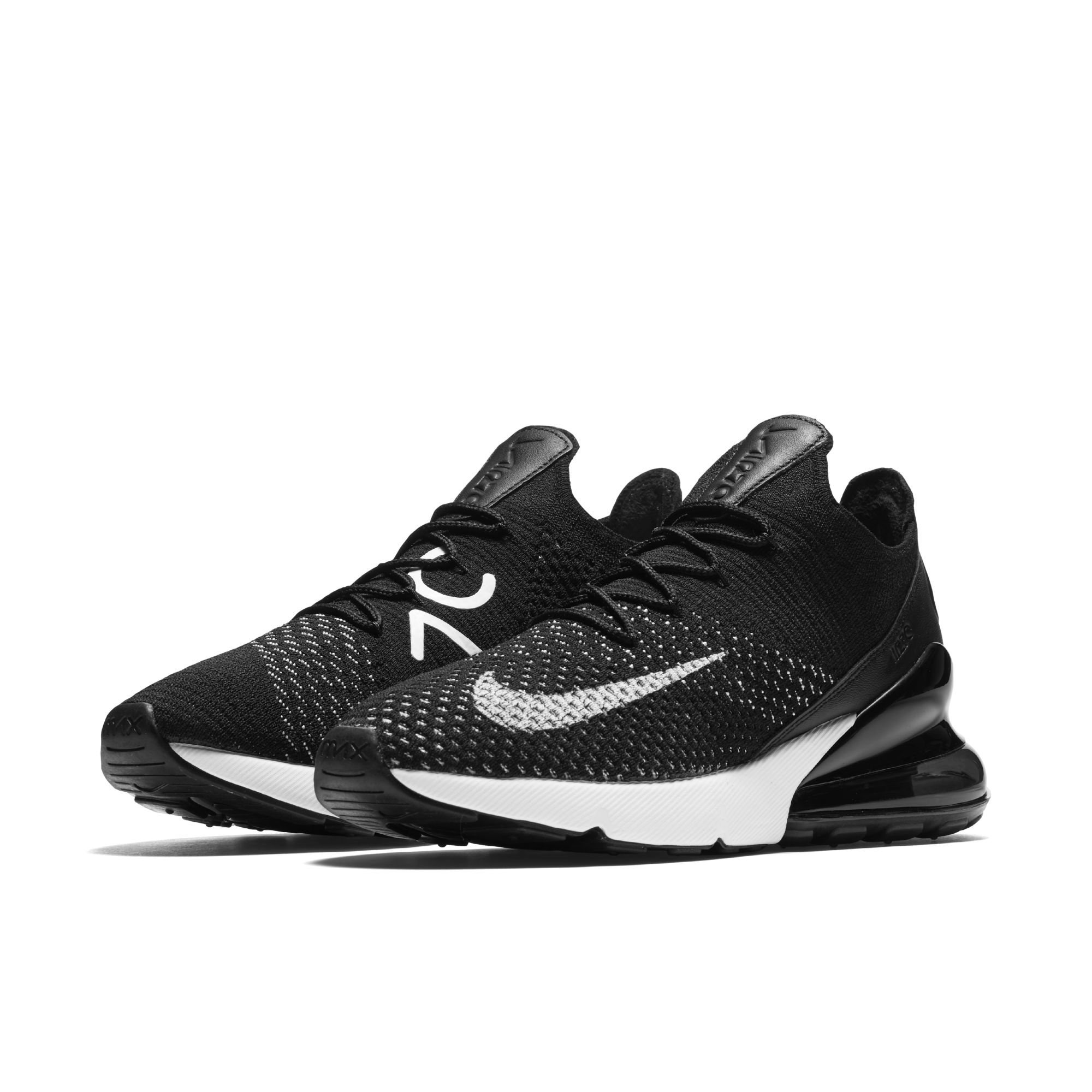 c5abadc0bc nike air max 270 flyknit black white womens - WearTesters