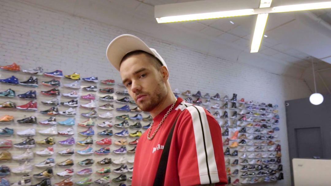liam payne sneaker shopping