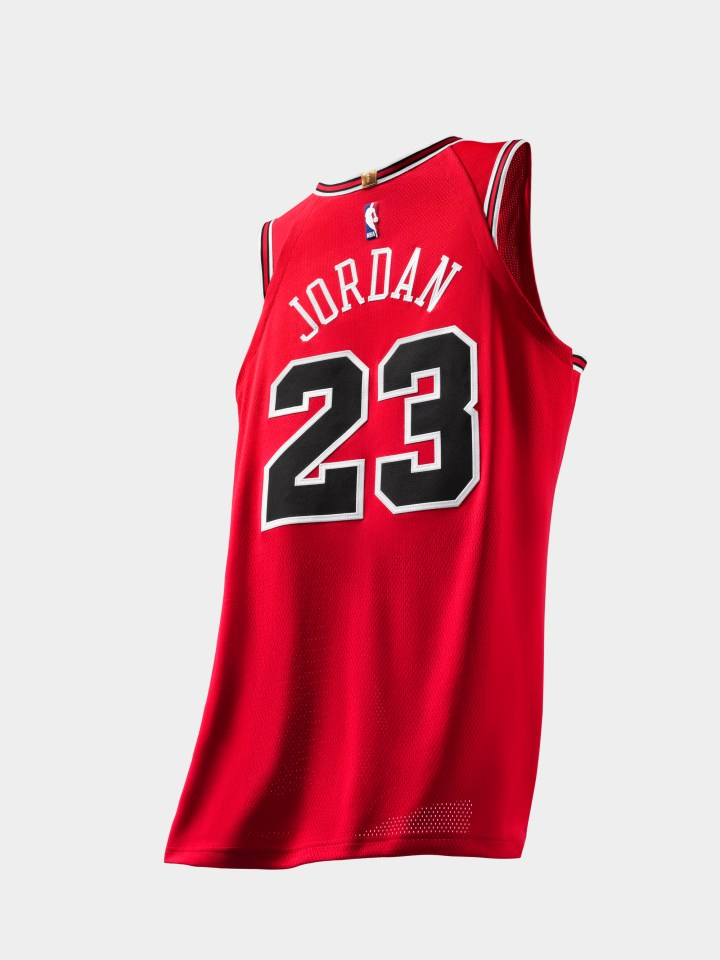 Michael Jordan authentic jersey last shot 3