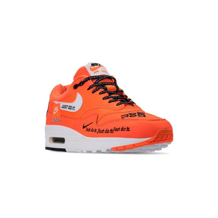 NIKE WMNS AIR MAX 1 WHITE : BLACK-TOTAL ORANGE 2
