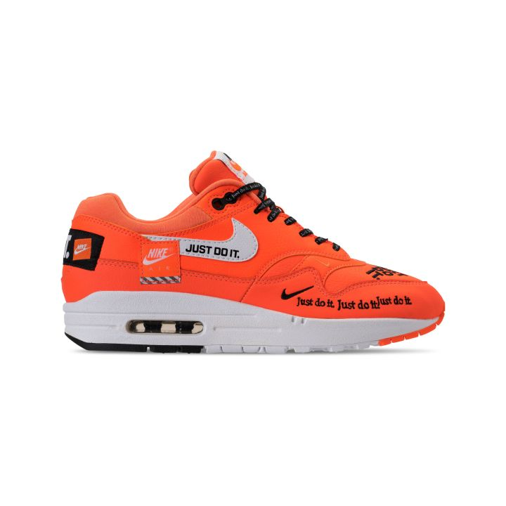 NIKE WMNS AIR MAX 1 WHITE : BLACK-TOTAL ORANGE 3