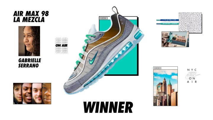 nike on air winners Air Max 98 La Mezcla gabrielle serrano