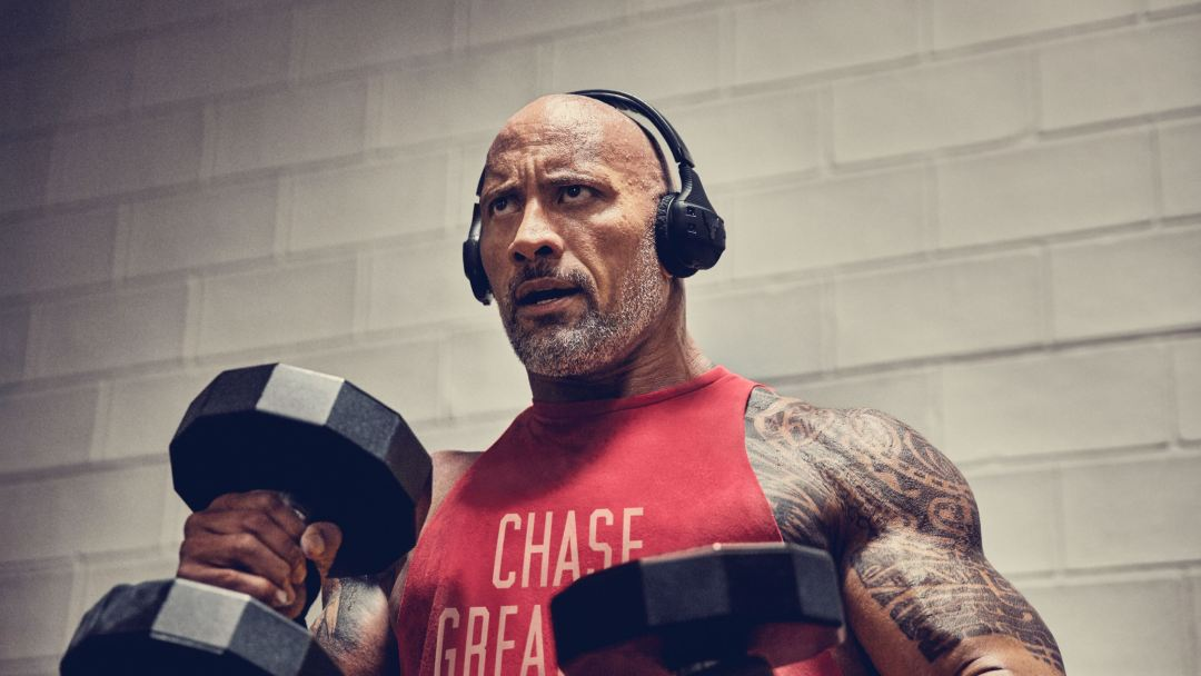 59fb334c2a0 Under Armour and Dwayne Johnson Launch 'Project Rock' JBL Wireless ...