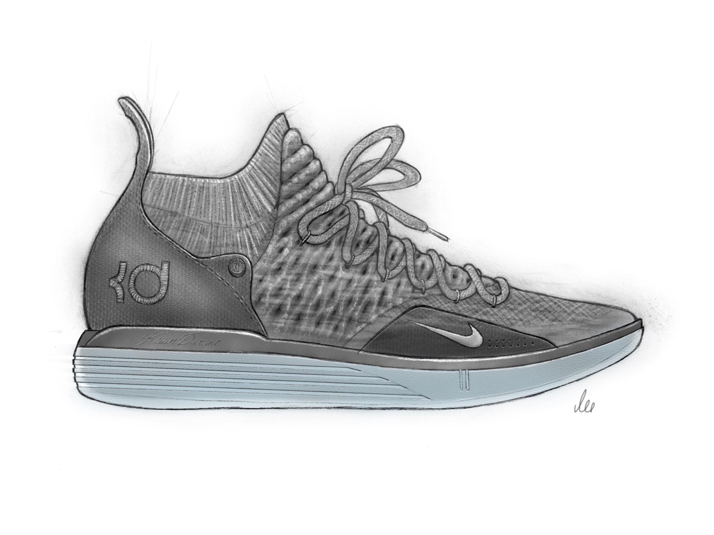 02e5e3467e4e Nike KD 11 design sketch - WearTesters