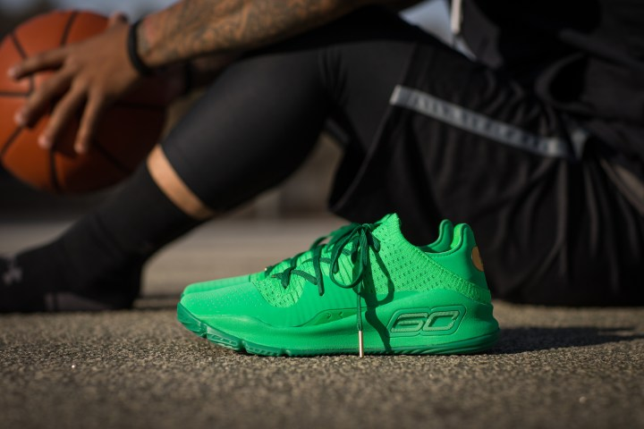 Under Armour Curry 4 low color pack green