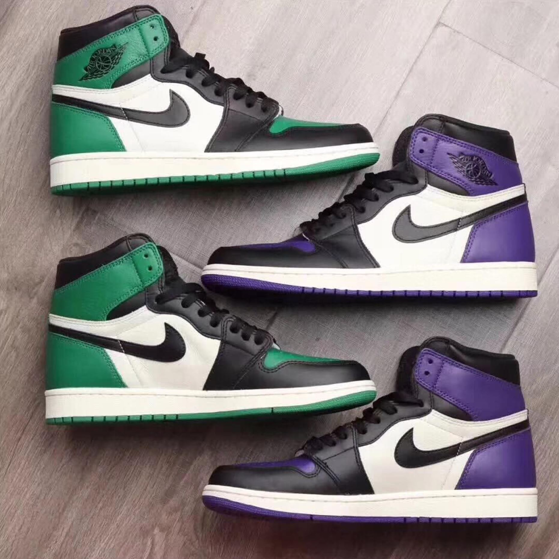 65e8ce7e8e5581 air jordan 1 court purple pine green - WearTesters