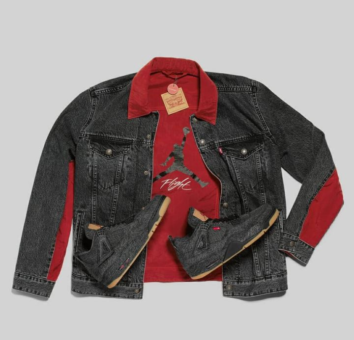 levis air jordan 4 black jacket