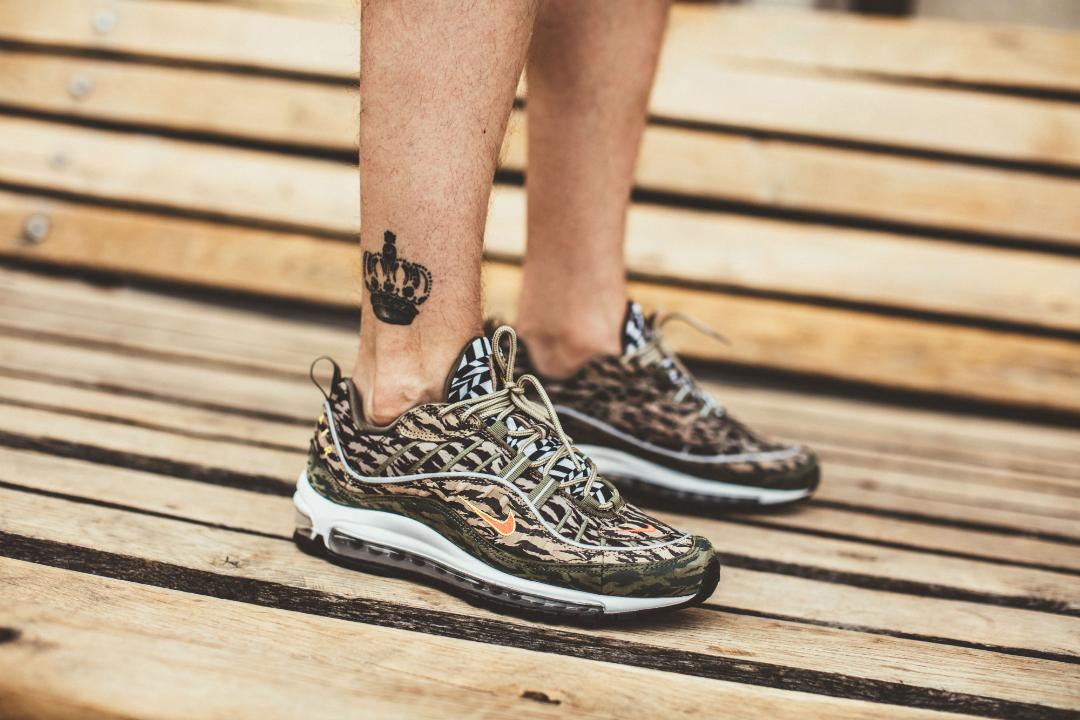 da11902f5a5 nike air max 98 AOP camo on foot - WearTesters