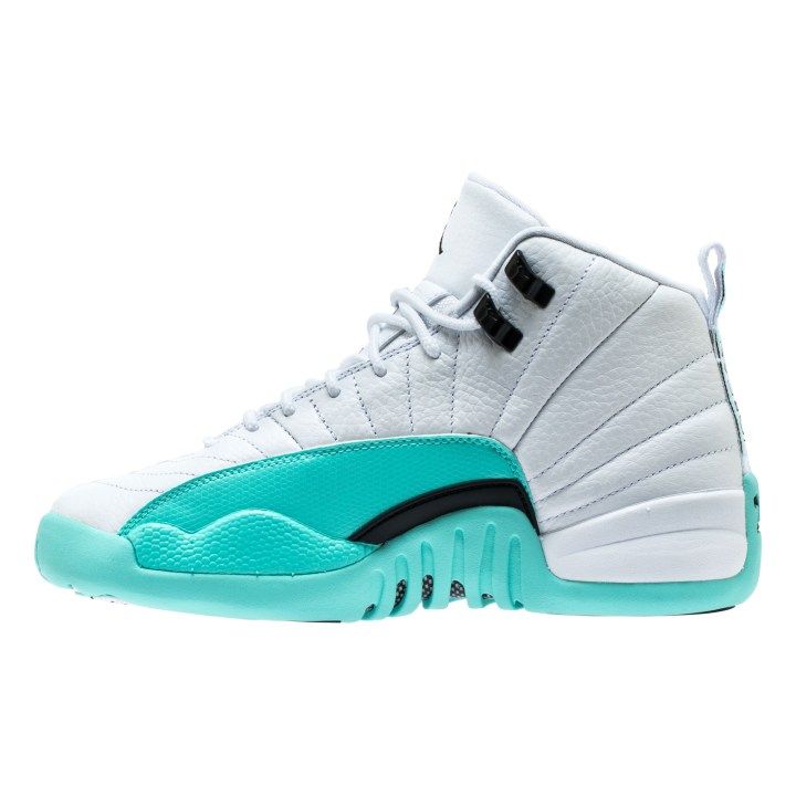 AIR JORDAN RETRO 12 GG WHITE:BLACK-LT AQUA 3