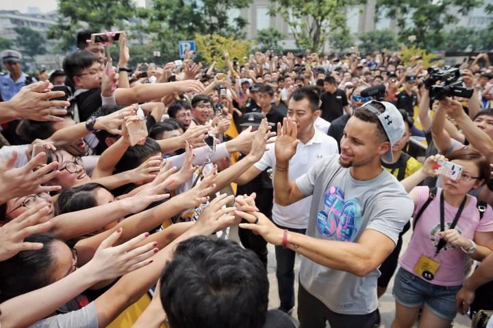 Curry 2017 tour hangzhou brand house