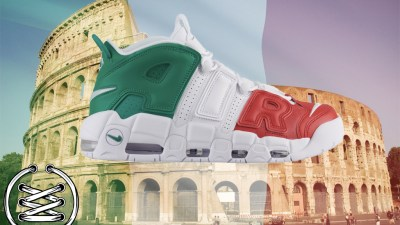 buy online 48df9 0ec3f Check Out This Italian  Tricolore  Colorway of the Air More Uptempo