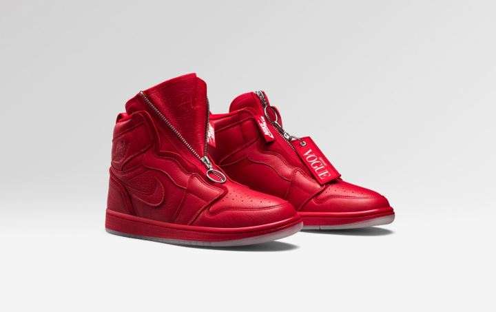 Vogue air jordan 1 Zip AWOK red edited by vogue