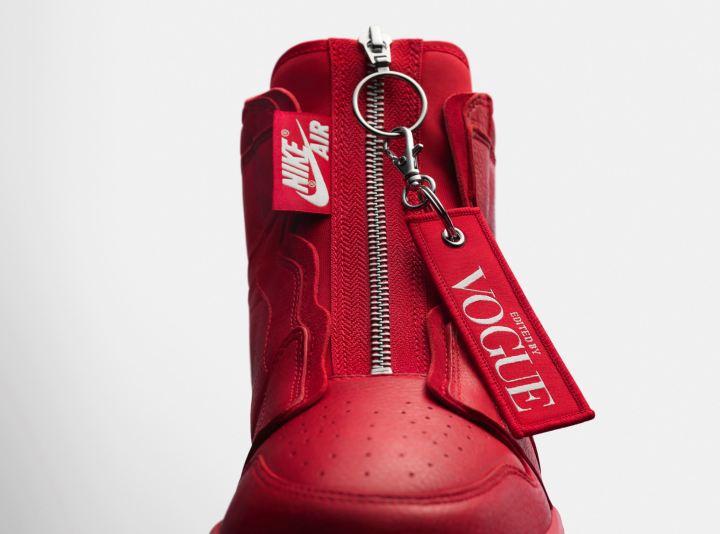 Vogue air jordan 1 Zip AWOK red