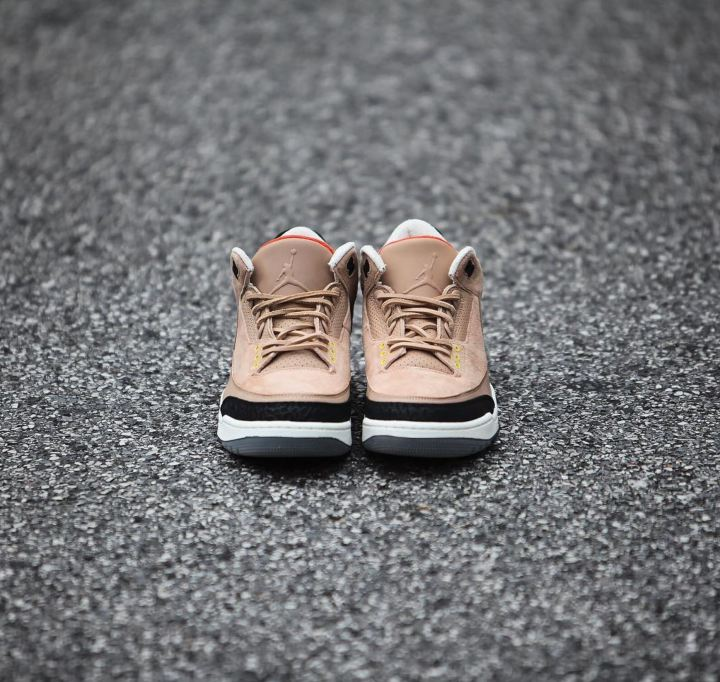5fa36d29997 air jordan 3 bio beige justin timberlake detailed look air jordan 3 NRG JTH  bio begie top