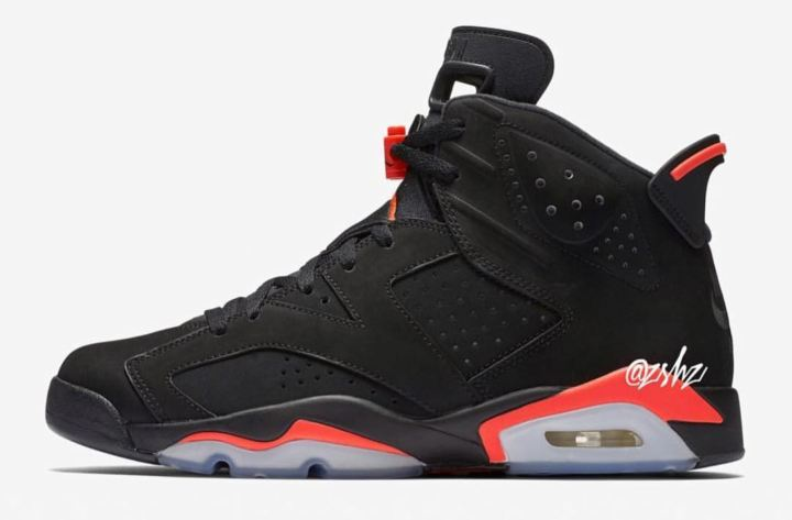 new arrival b6178 12168 air jordan 6 black infrared 2019