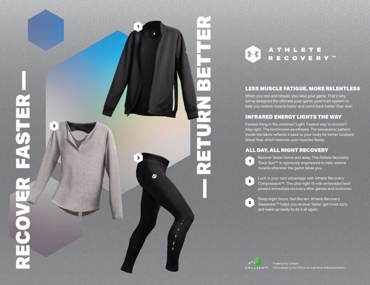 under armour recovery apparel celliant