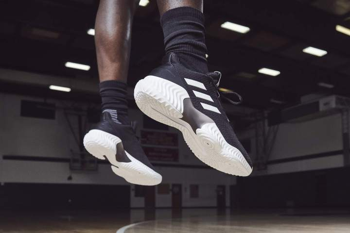 adidas pro bounce low black white