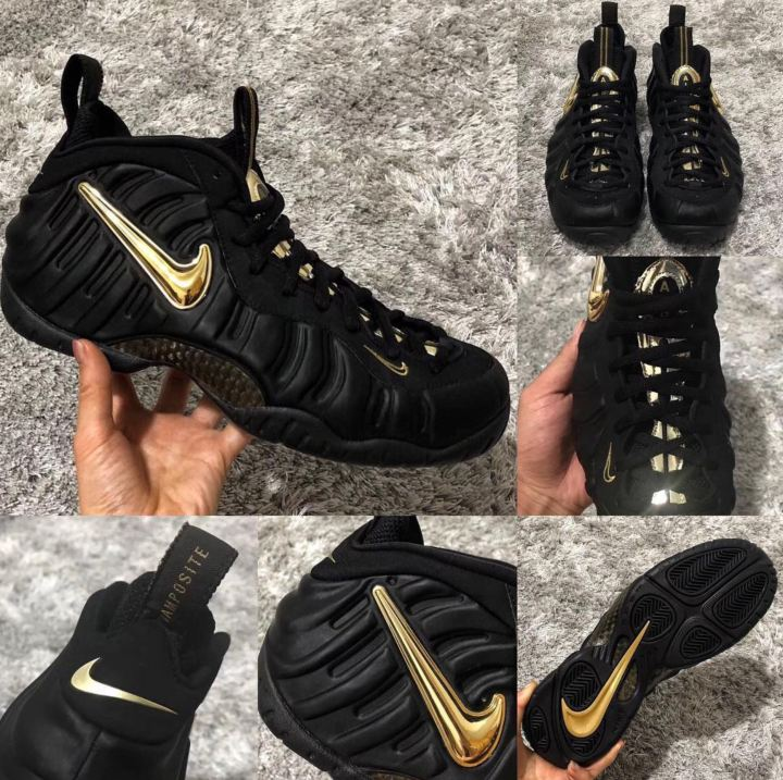 f247294d8dc New Air Foamposite Pro  Black Metallic Gold  Leaks Ahead of Release ...