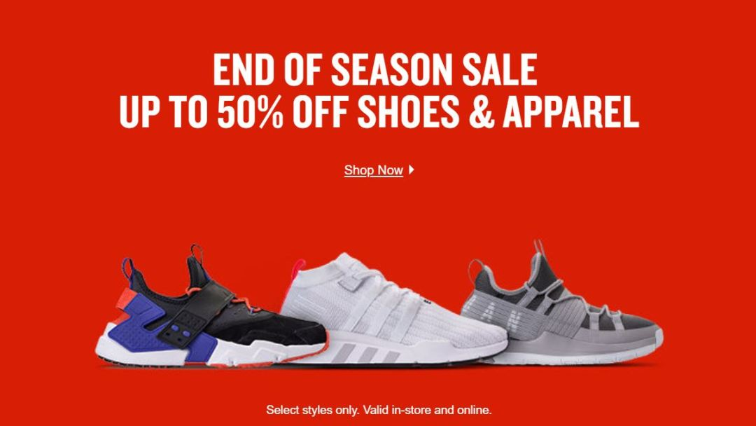 ad4b7728febb Deals  Finish Line End of Season Sale - Up to 50% Off - WearTesters
